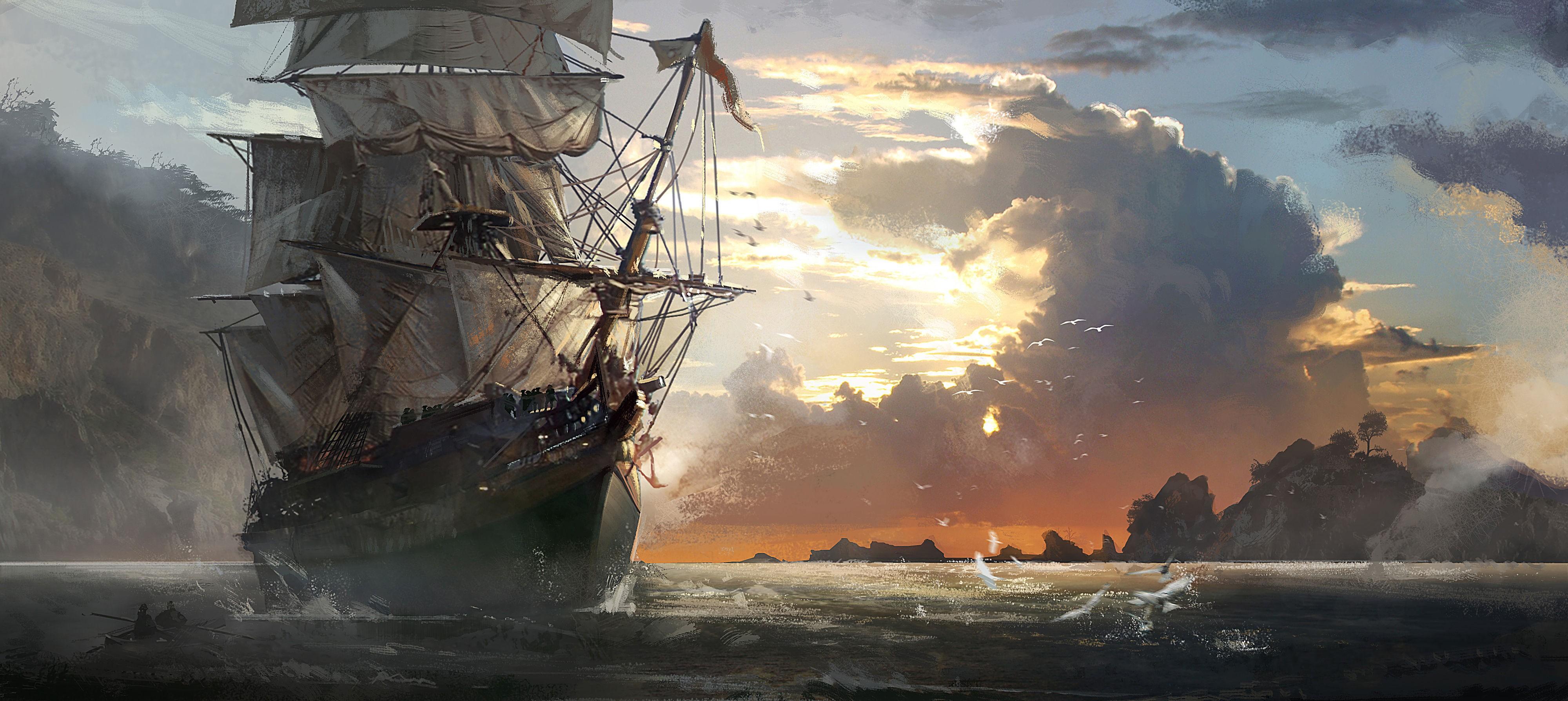 обои для рабочего стола пиратские темы № 618543  скачать