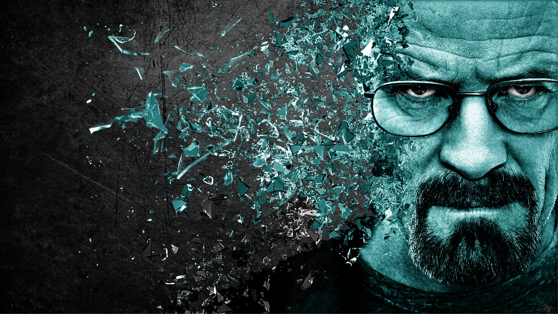 Shattered Walter White Selective Coloring Breaking Bad