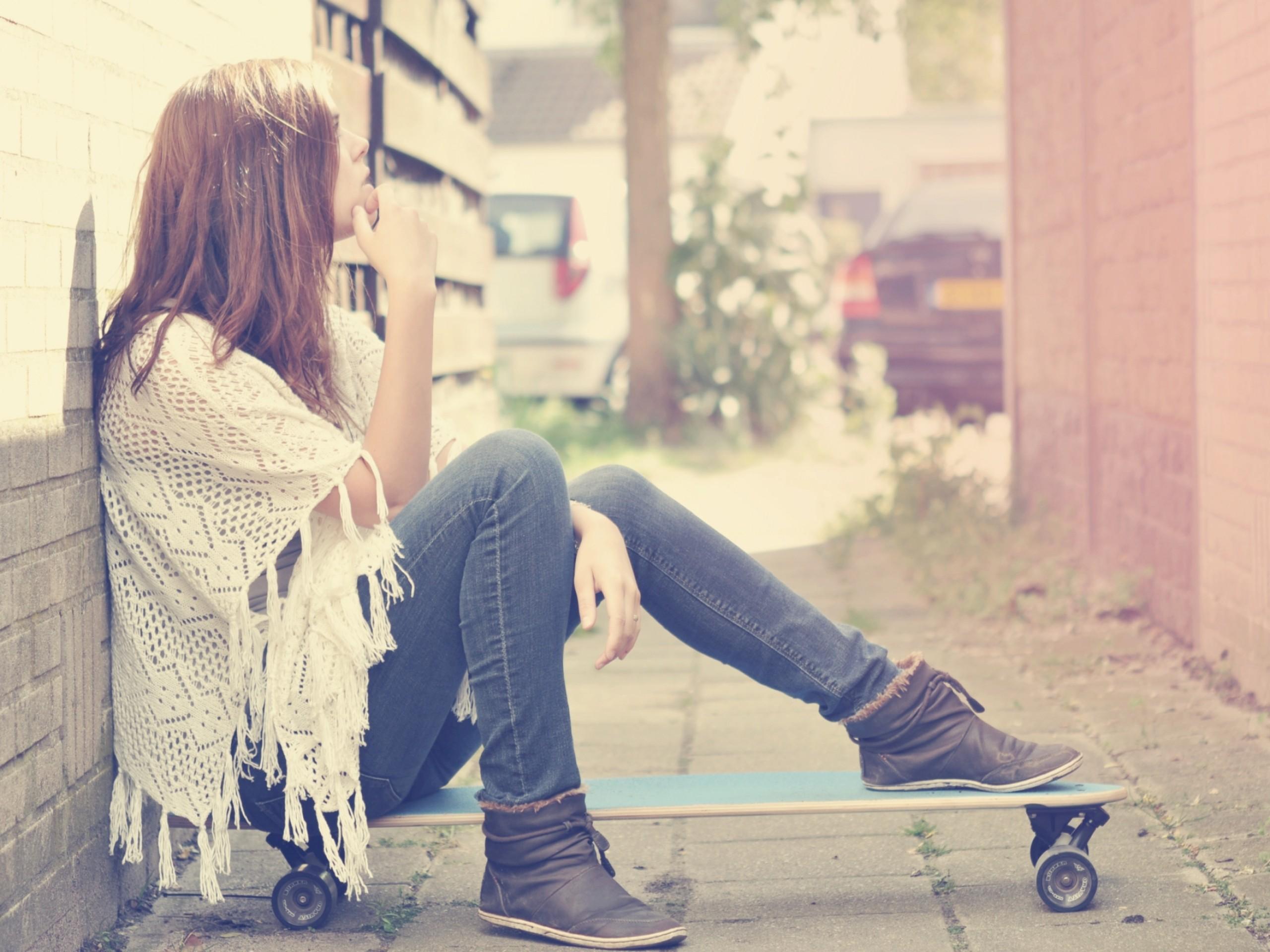 Фото девушек на аву на скейт