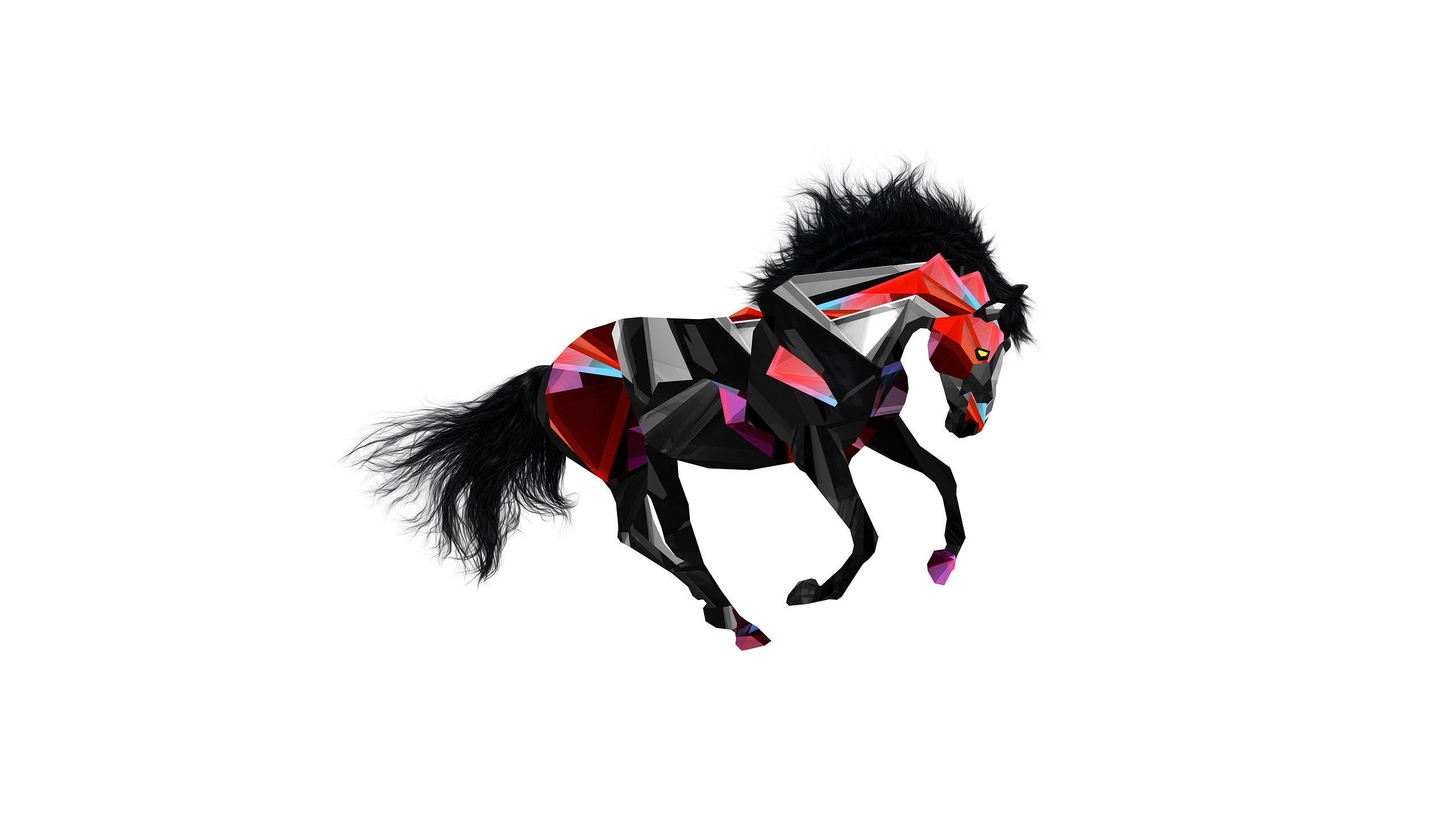 Justin Maller Facets Digital Art Animals Horse