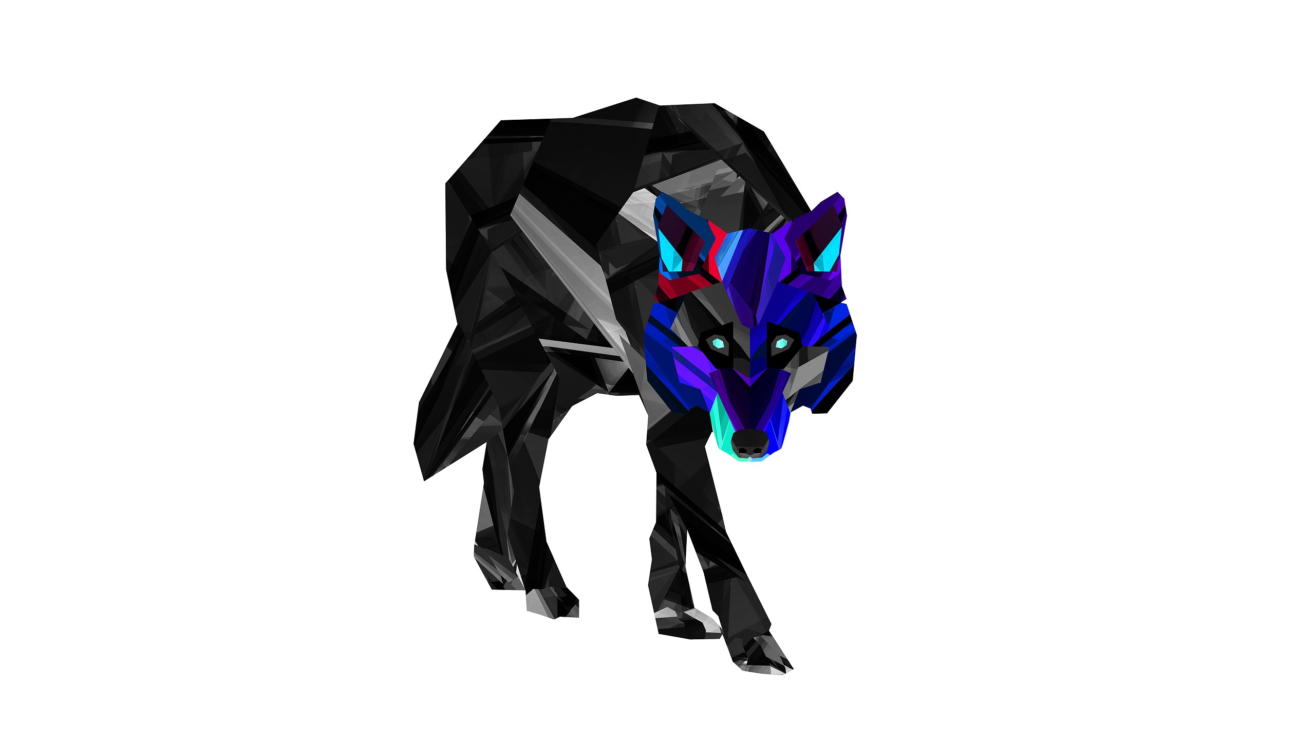 Wolf Justin Maller Animals Facets