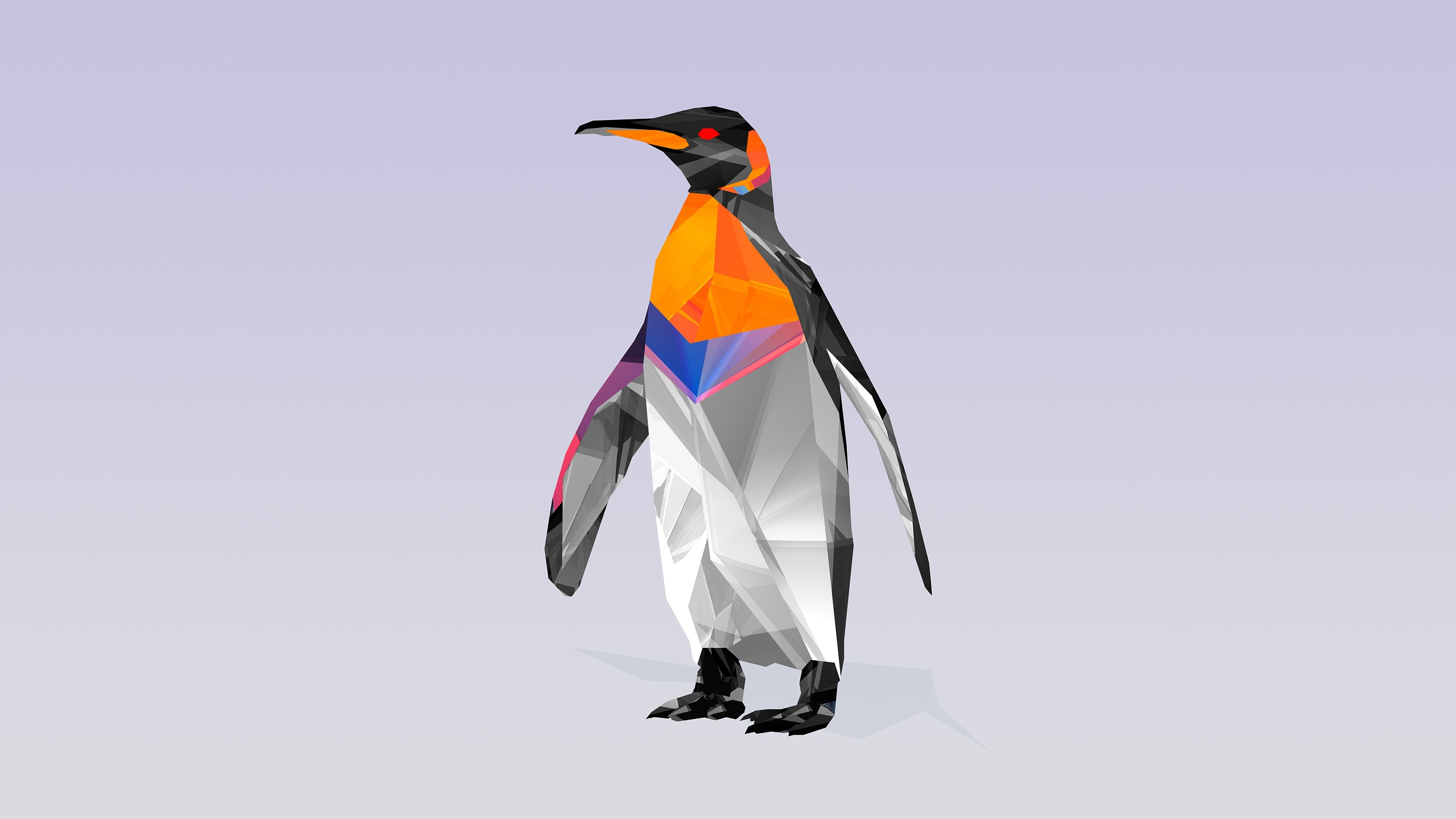 Animals Justin Maller Digital Art Penguins Facets