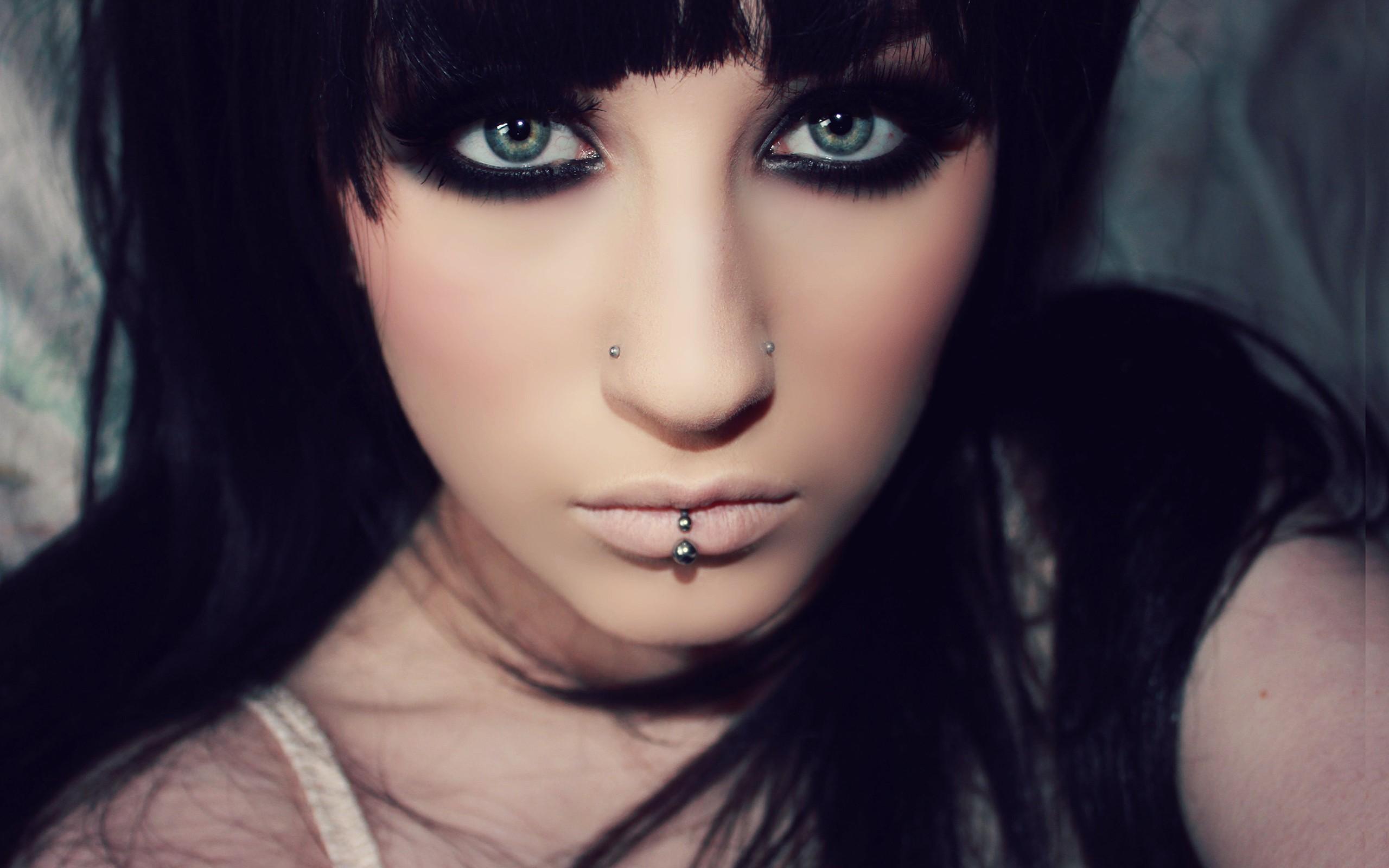 девушка, губы, глаза