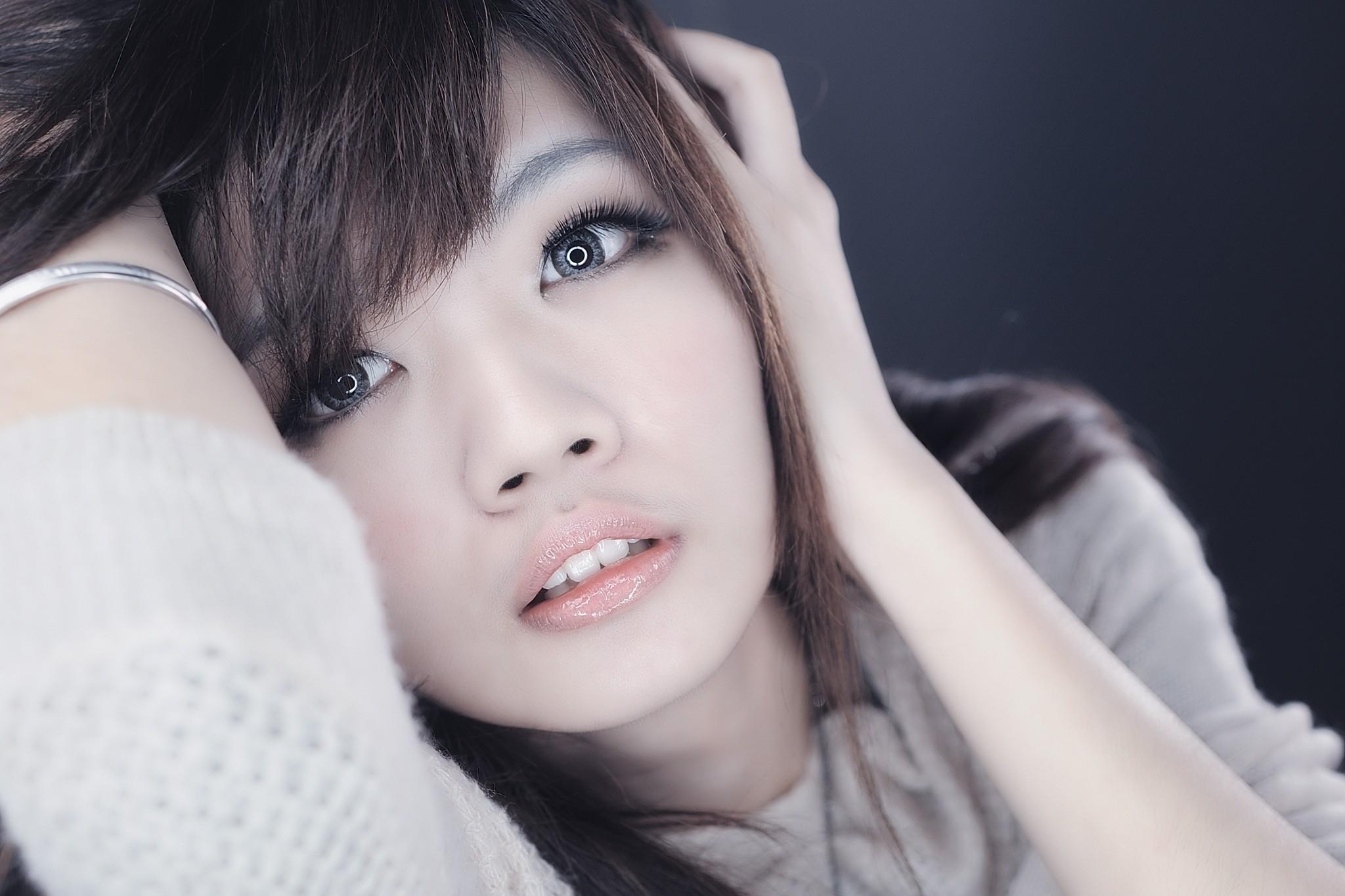 лицо, фото манипуляции, девушка, Азия, брюнетка
