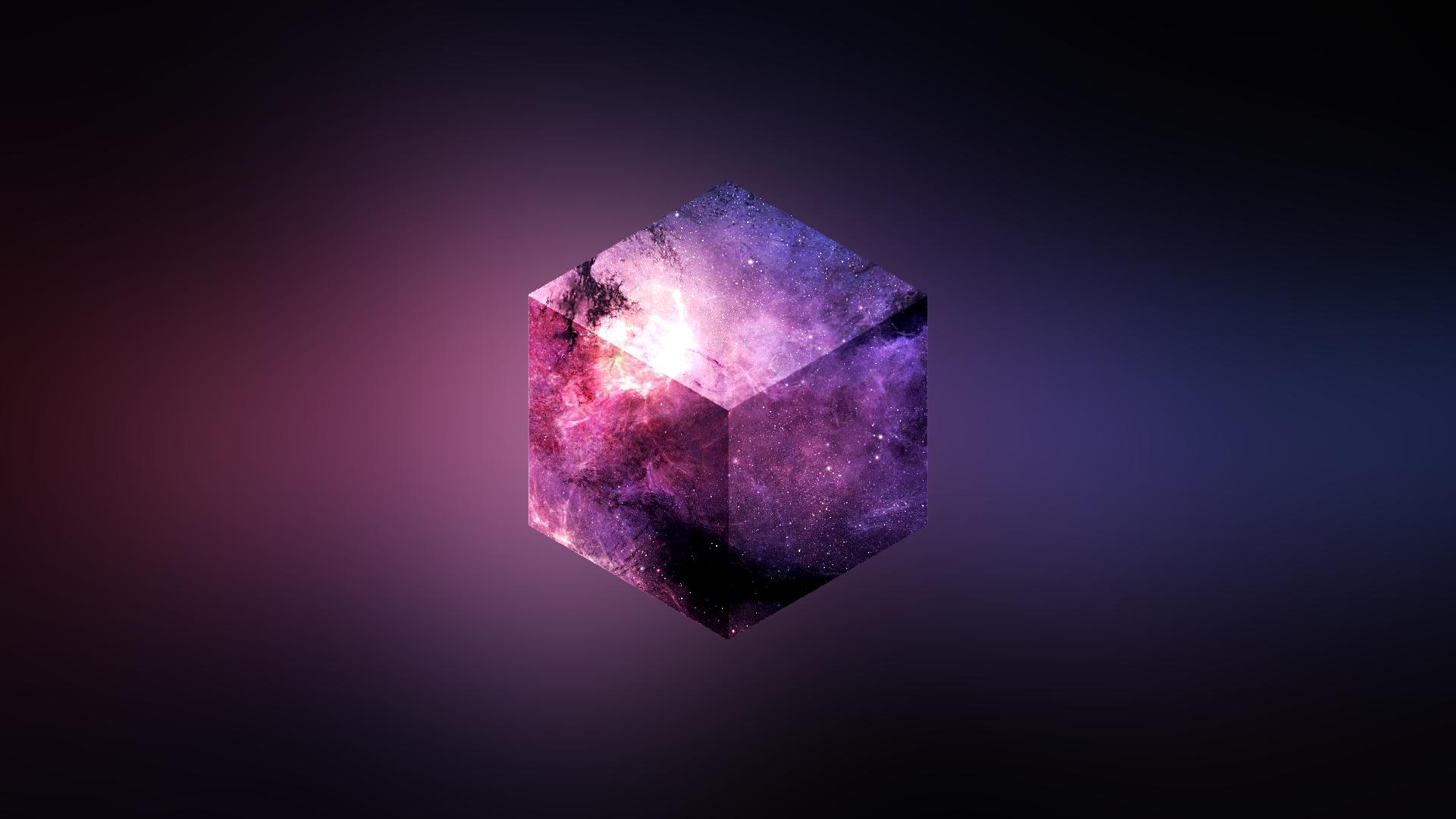 куб, космос, абстрактные