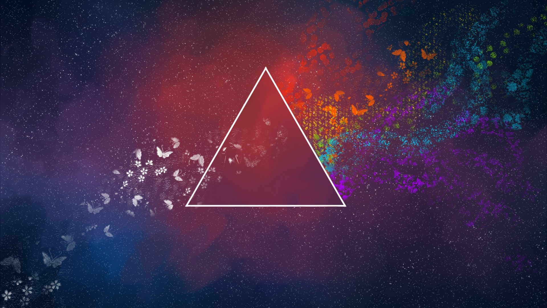 The Dark Side Of The Moon Triangle Abstract Pink Floyd Flowers