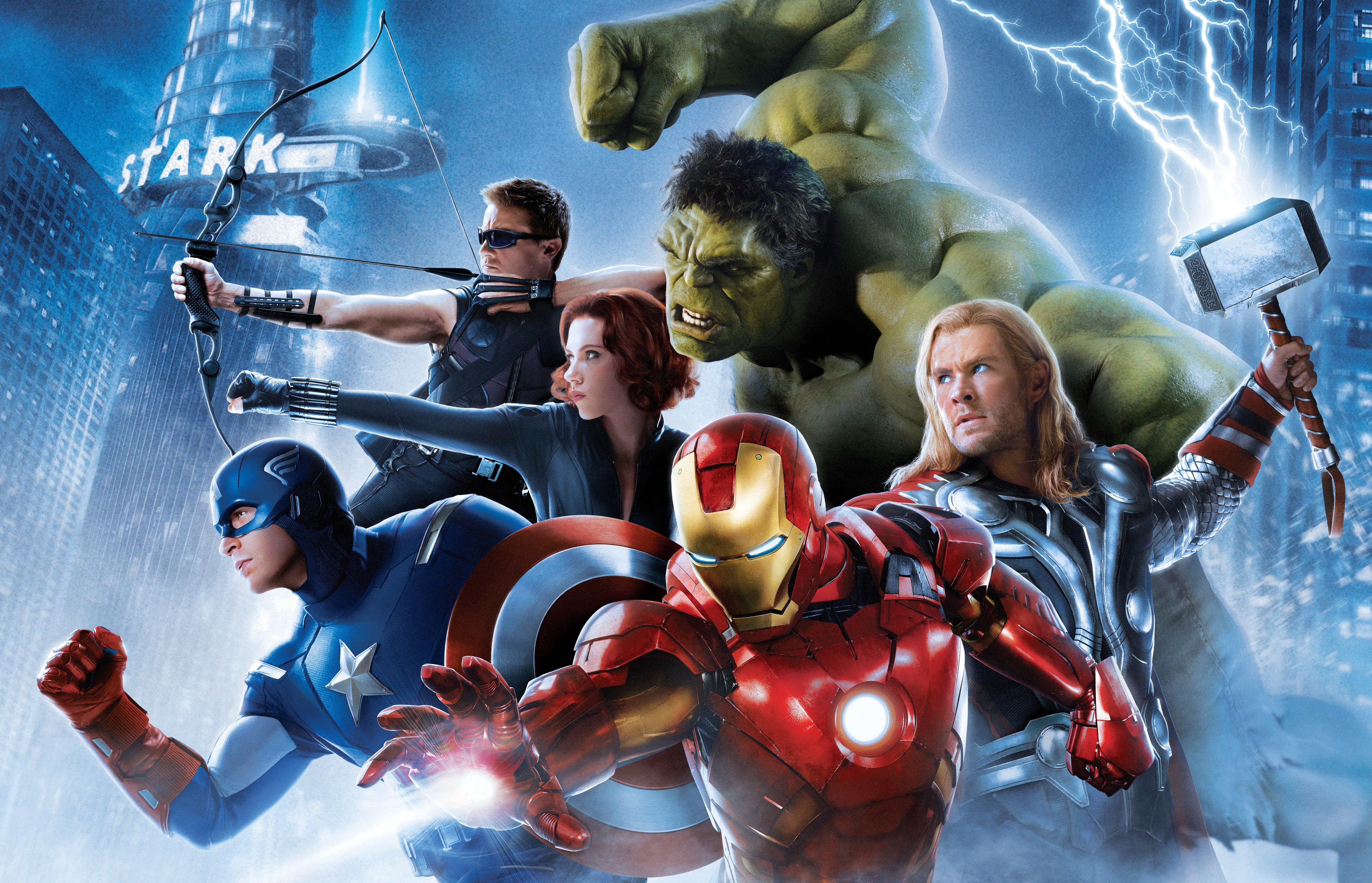 Lightning Scarlett Johansson Thor Iron Man Captain America