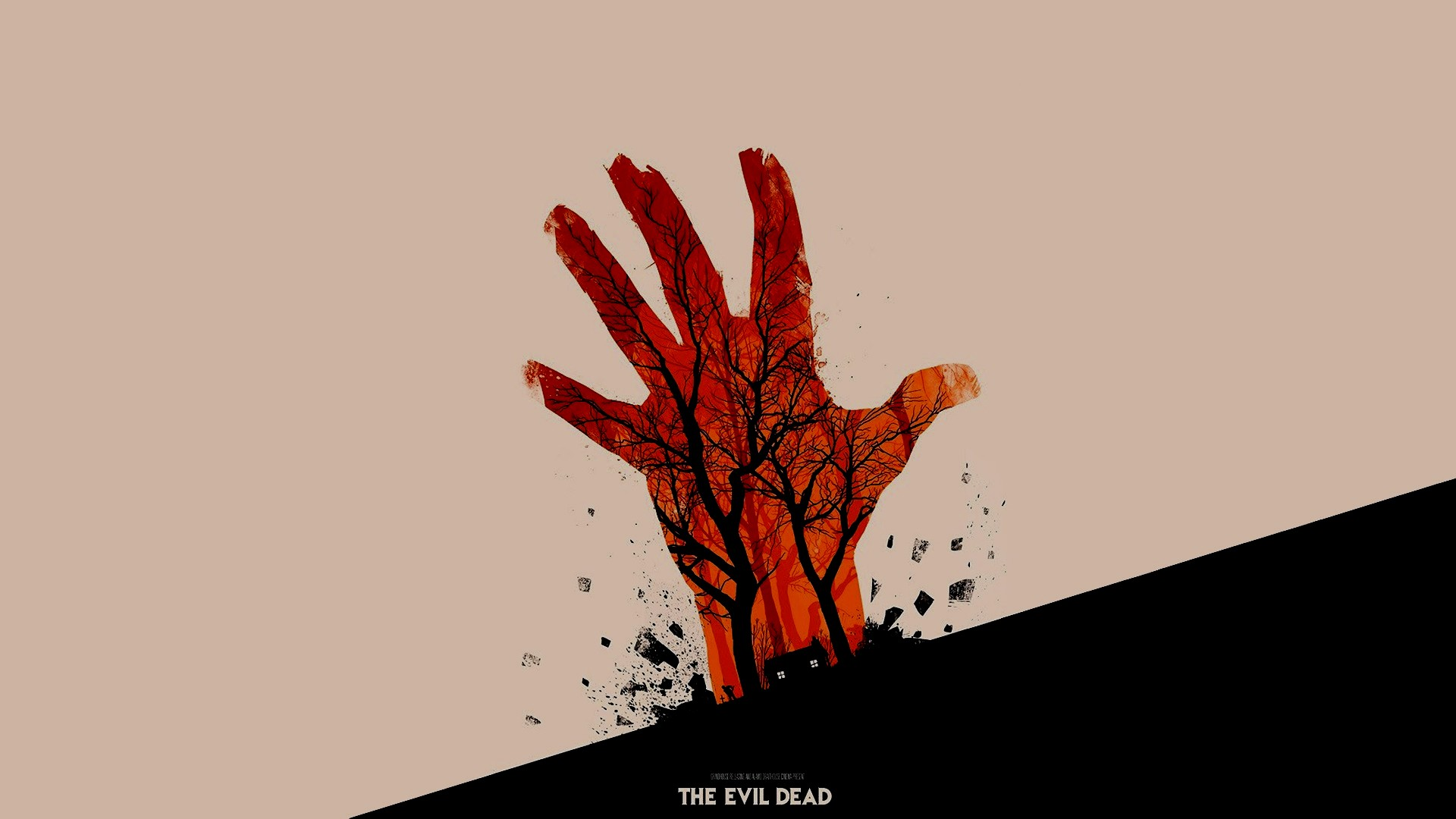 The Evil Dead Artwork Movies Olly Moss Minimalism