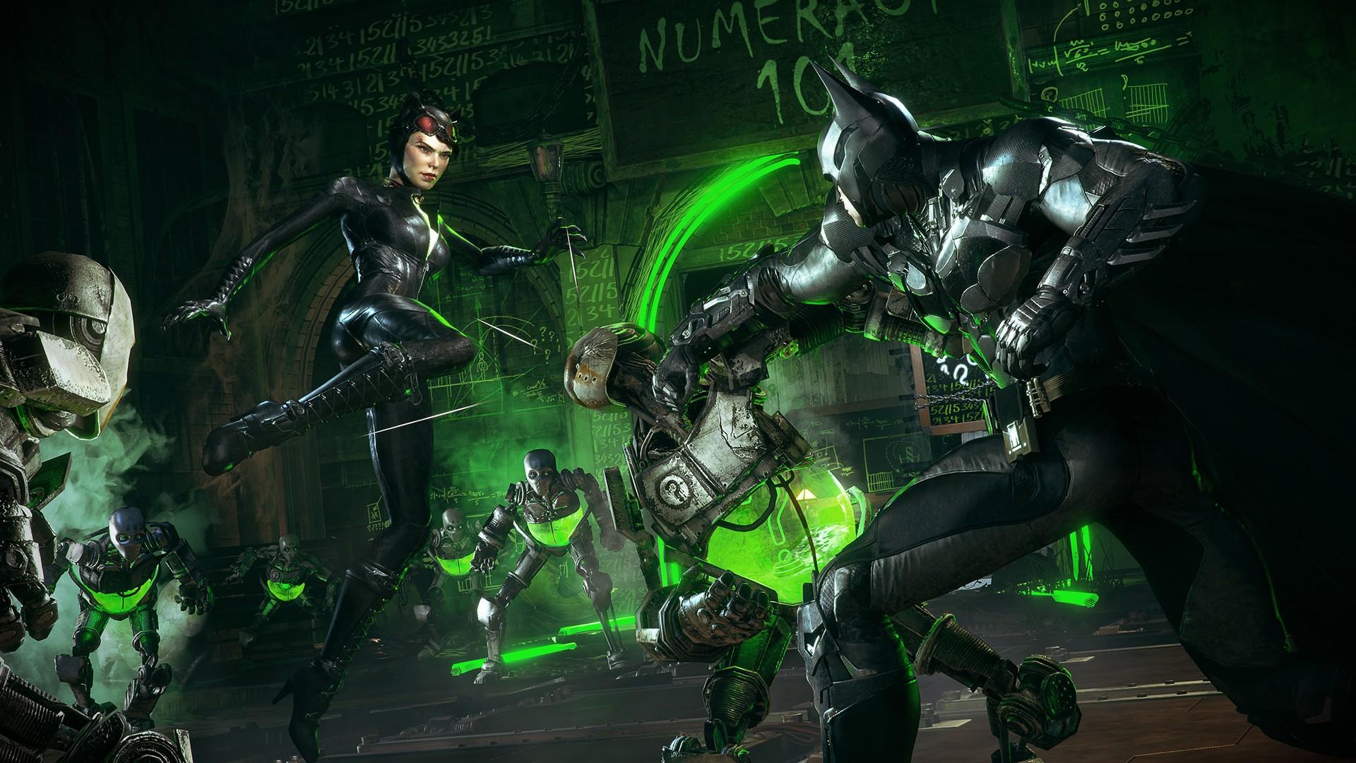 The Riddler Batman Arkham Knight Catwoman Gotham City