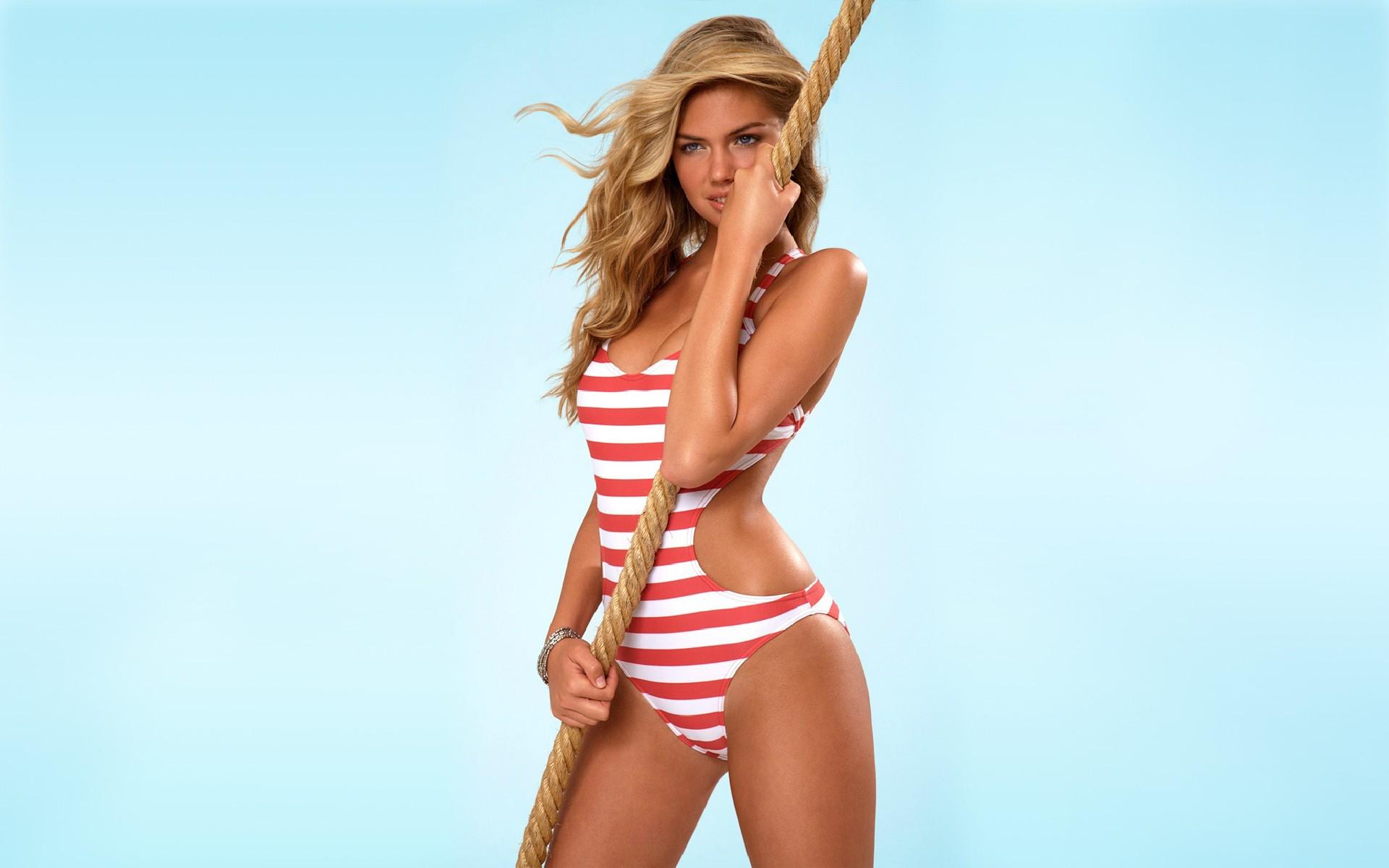 Model ropes swimwear blonde simple background kate upton download wallpaper voltagebd Gallery