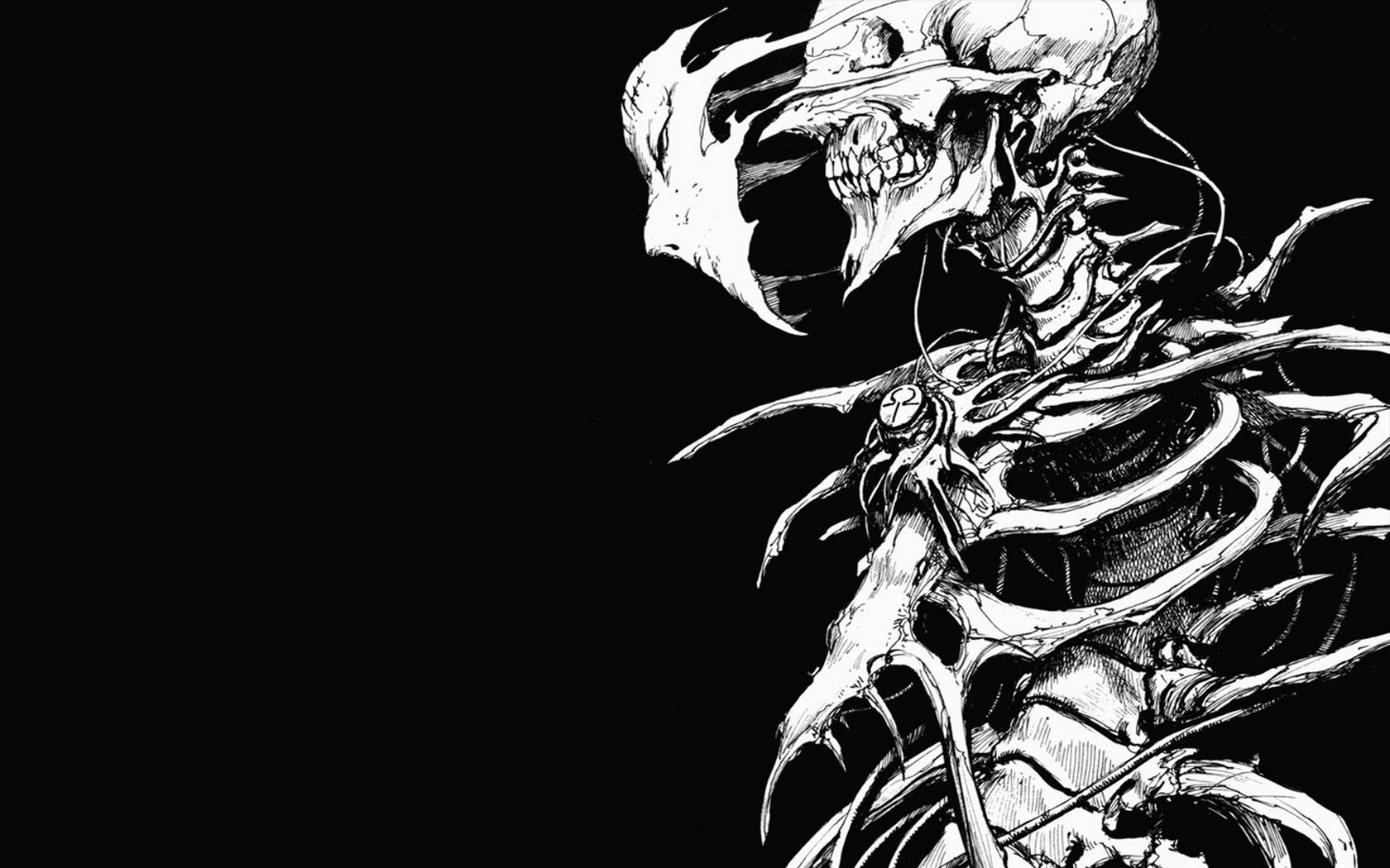 Biomega Skull Drawing Face Bones