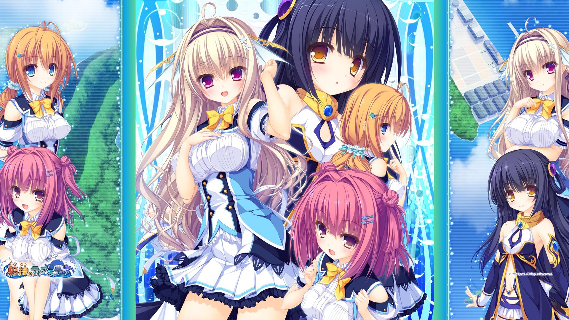 Narumi Marine Kamitouno Ena Visual Novel Anime Girls Riru Whale