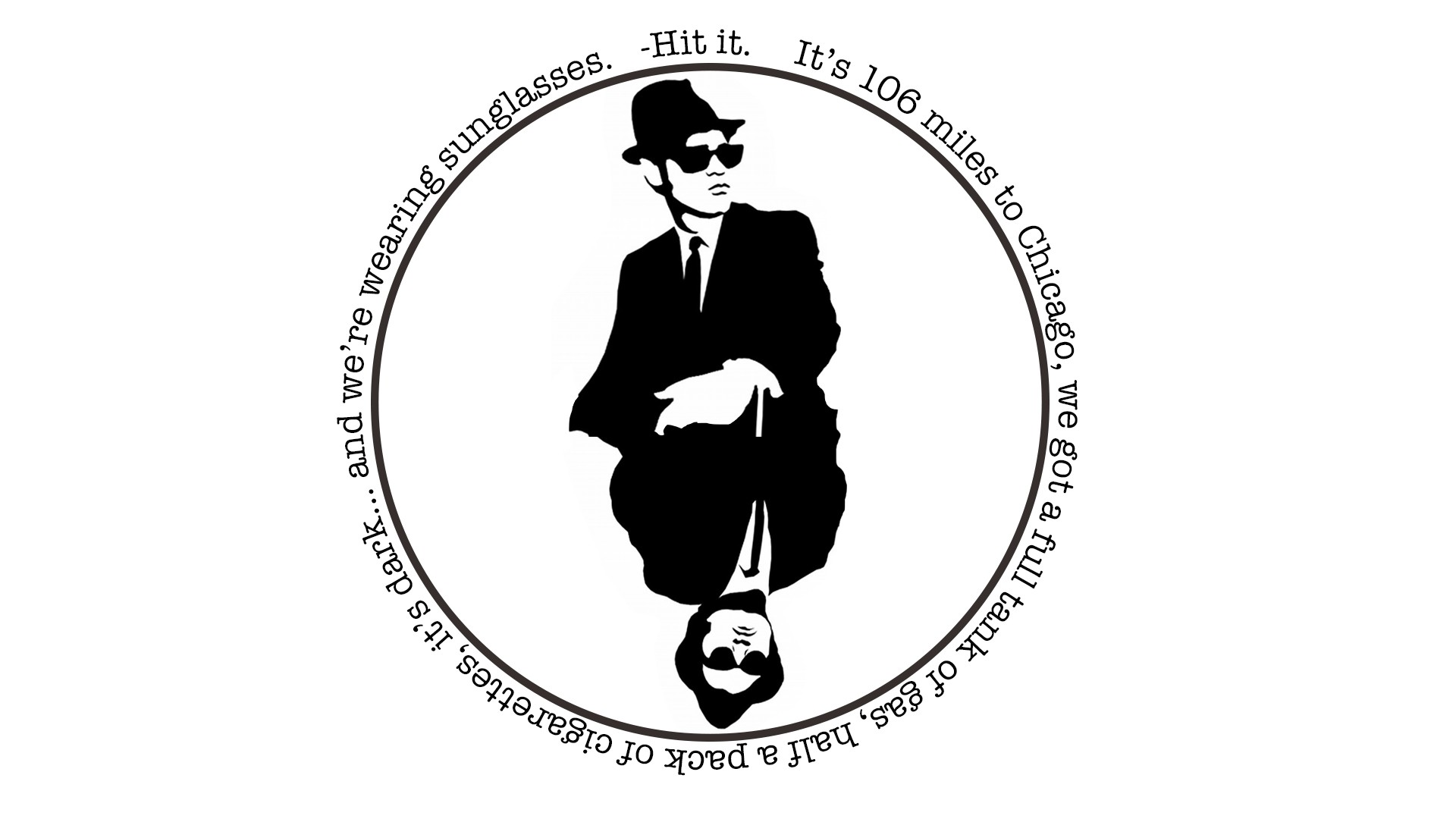 Quote Blues Brothers Minimalism