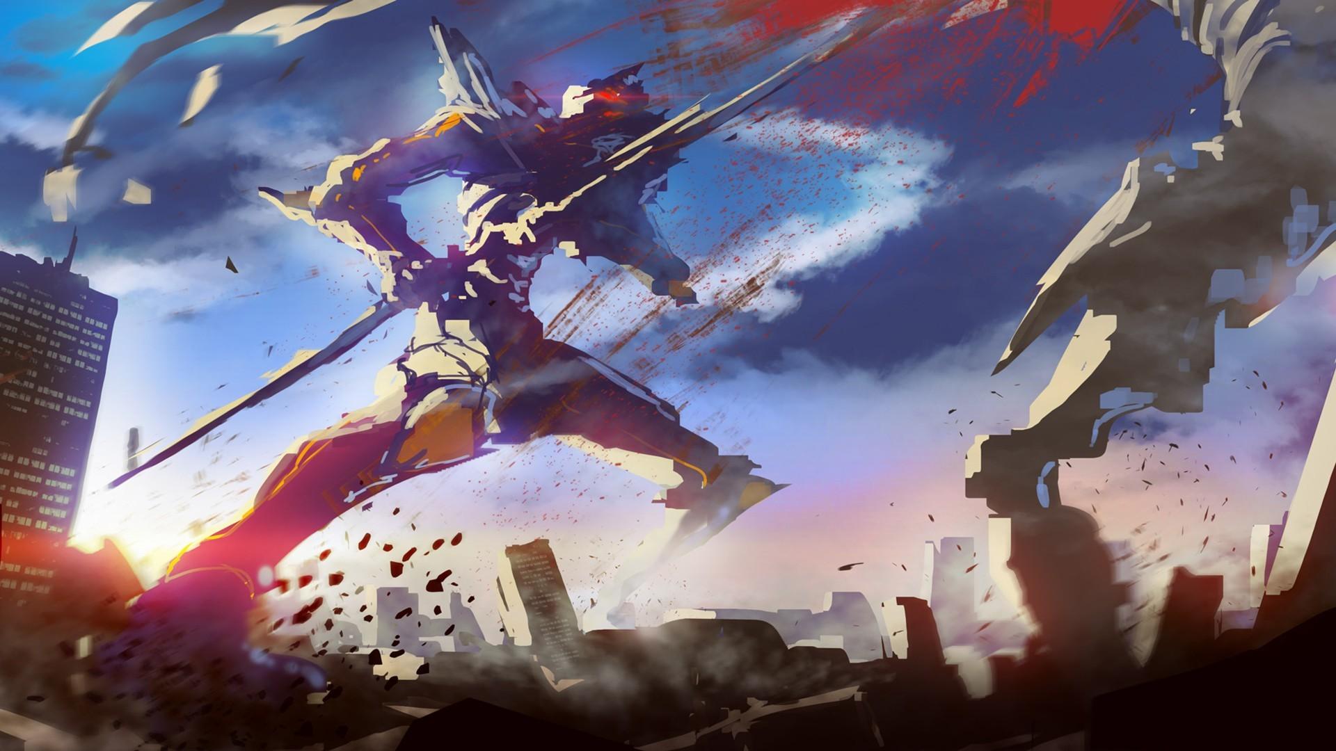 EVA Unit 01 Blood Neon Genesis Evangelion