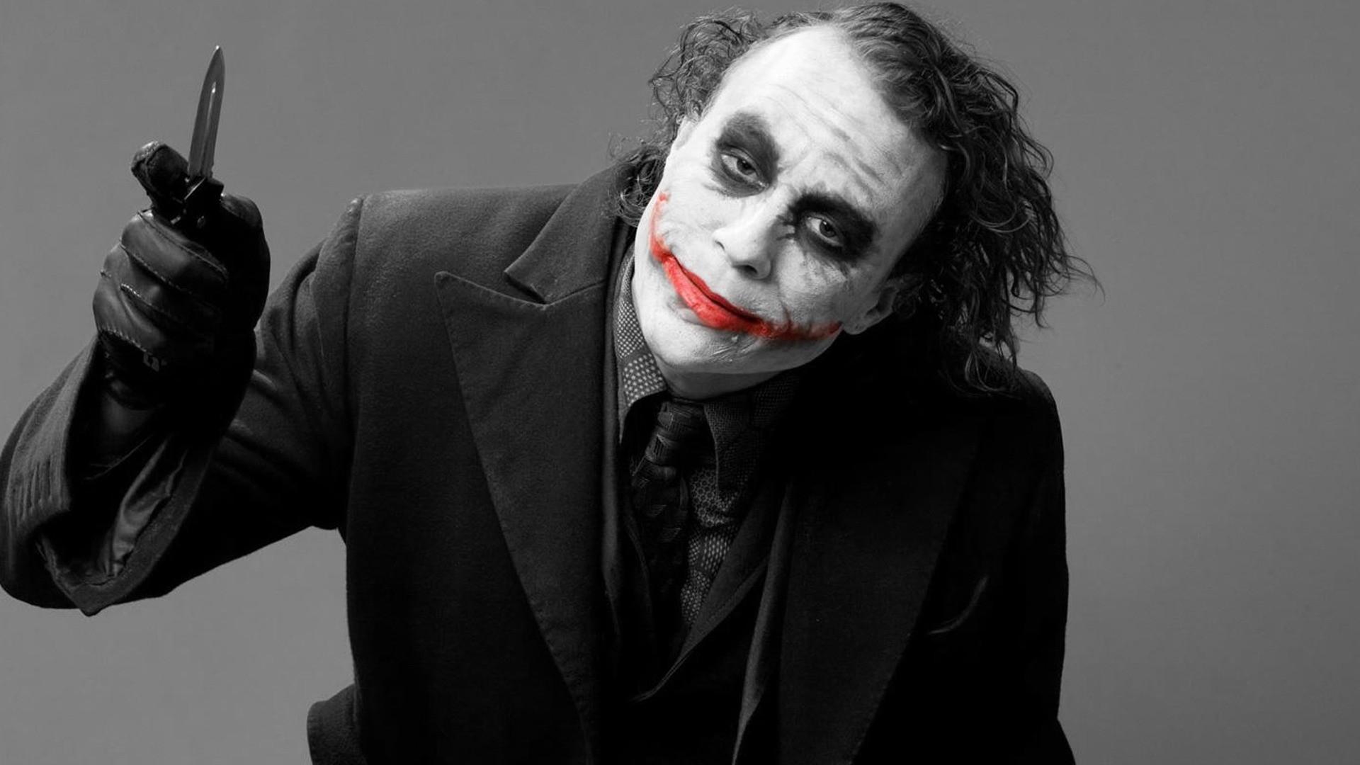 Photography Batman Joker DC Comics Black And Red Heath Ledger