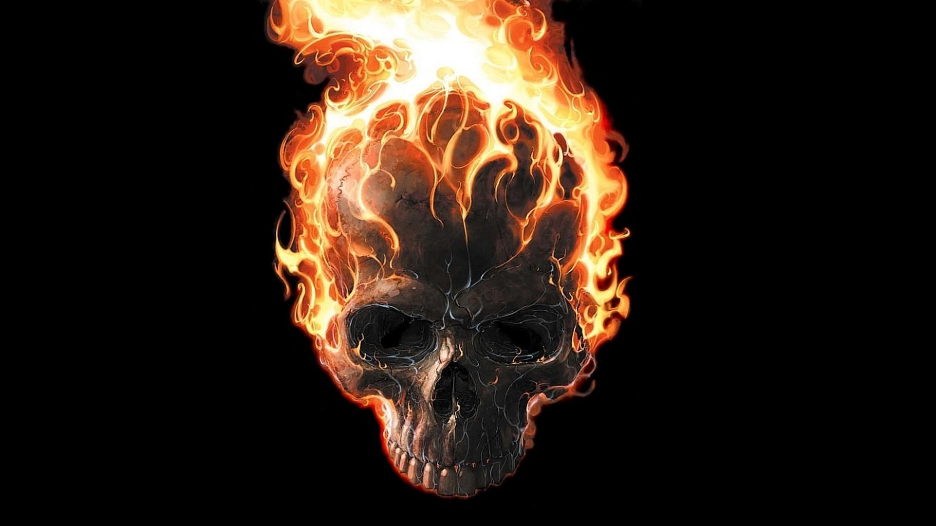 Ghost Rider Fire Skull Download Wallpaper