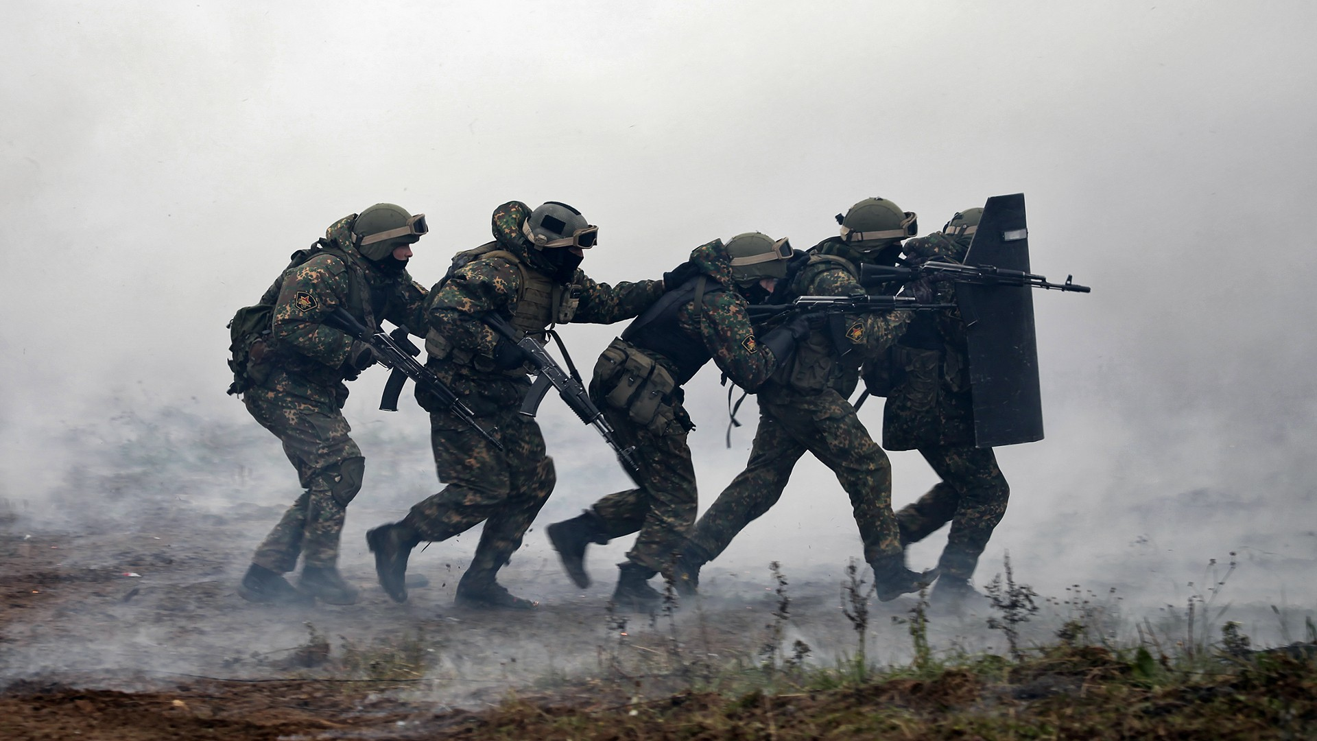 Smoke Special Forces Soldier Russia Russian Army