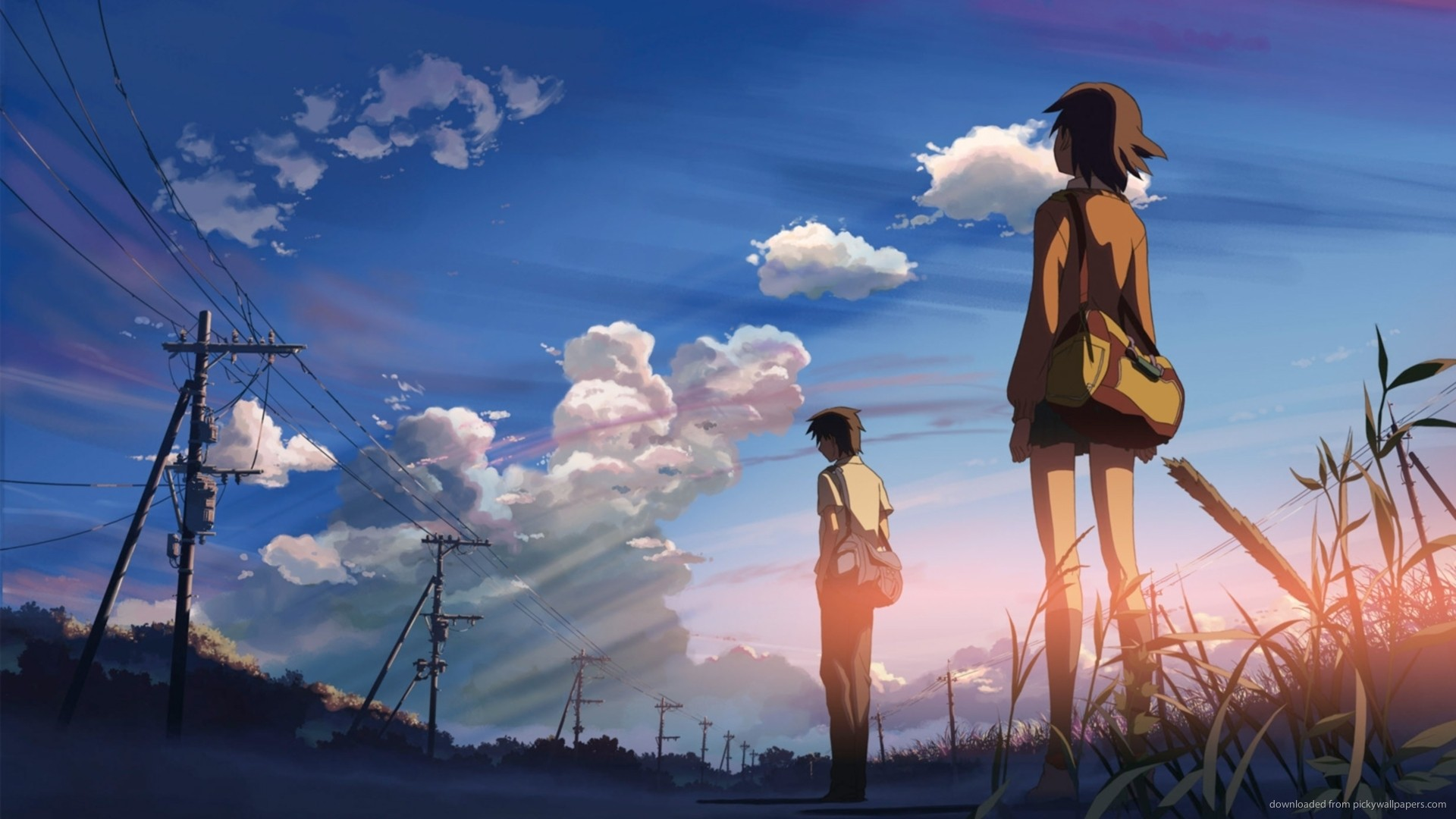 Sky 5 Centimeters Per Second Makoto Shinkai Download Wallpaper