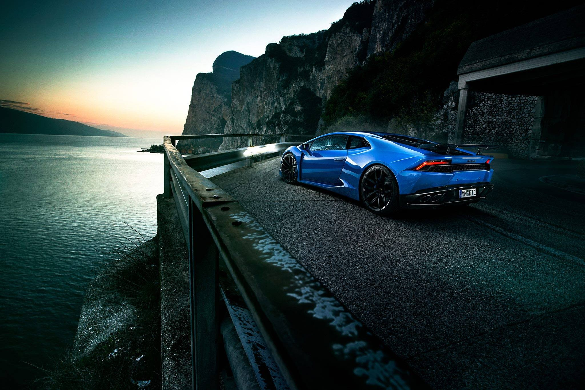 Vehicle Blue Cars Lamborghini Huracan