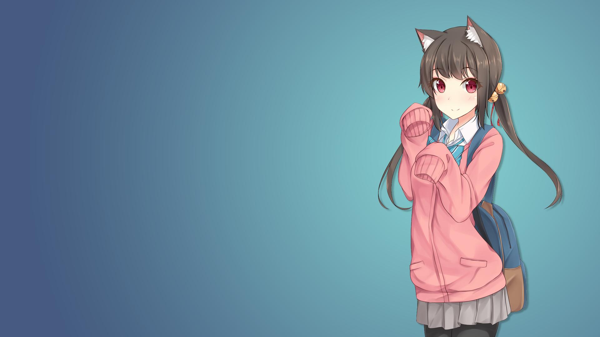 Anime Characters Catgirl : Nekomimi anime girls cat girl original