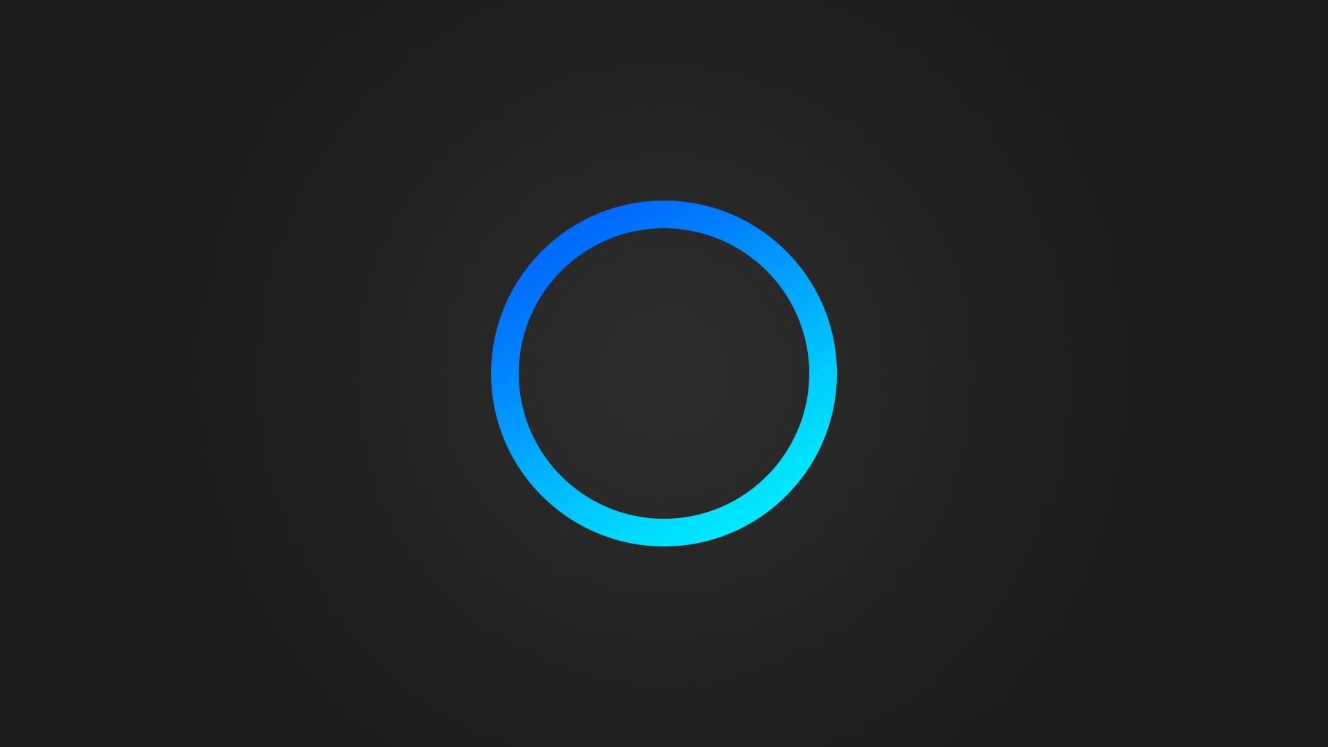 Blue Circle Cortana Simple Gray Background