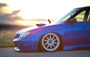 JDM, car, WRX STI, blue, Subaru, Subaru Impreza