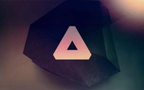 green, crystal, stones, artwork, technology, pink