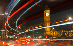 London, lights, city, England, cities