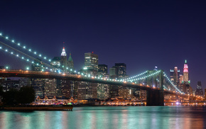 New York City, night, lights, USA, cities