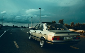 car, rain, Sun, morning, evening, BMW