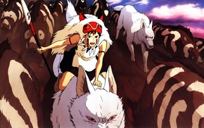 anime, Princess Mononoke, Studio Ghibli