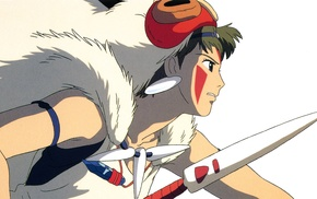 anime girls, Studio Ghibli, Princess Mononoke