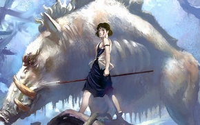 Princess Mononoke, Studio Ghibli, anime girls, anime