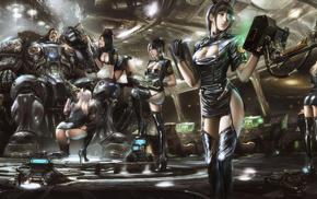 fantasy, armor, space, StarCraft, ship