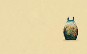 simple background, My Neighbor Totoro, Studio Ghibli, Totoro