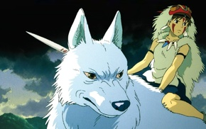 Studio Ghibli, anime girls, anime, Princess Mononoke