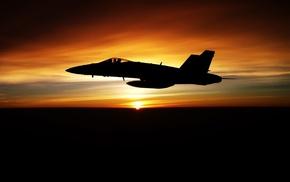 sunset, Sun, fly, airplane, aircraft