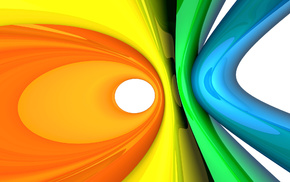 rings, 3D, abstraction, colors