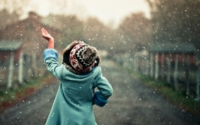winter, girlie, snowflakes, stunner