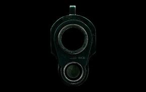 wallpaper, macro photo, pistol, gun