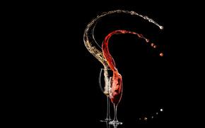 minimalism, wineglass, drink, wine