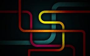 3D, colors, stripes, lines