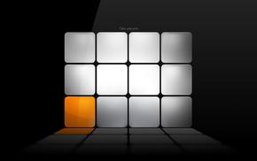 minimalism, orange, gray