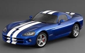 cars, blue, gray, Dodge