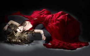 Девушка, платье, кровь, красное платье, девушки