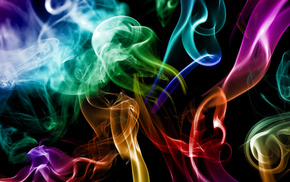 creative, 3D, abstraction, smoke, colors