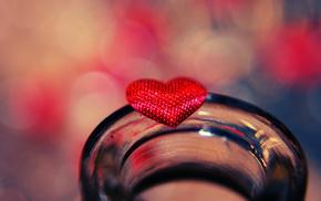 macro, heart, love