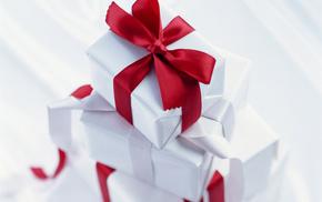 holiday, gifts, ribbon