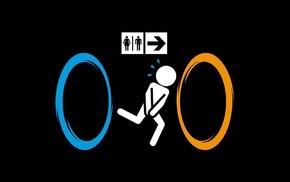 юмор, туалет, портал, игры, Portal 2