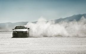 занос, автомобили, bmw, Пустыня, пыль, дрифт